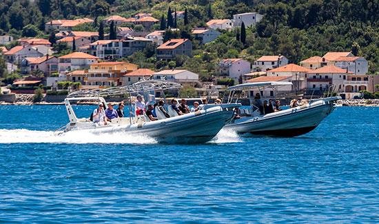 Blue Cave speedboats