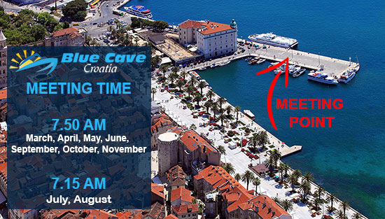 Blue Cave Croatia meeting point in Split